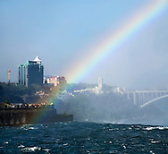 Rainbow Over The Canadian Falls, Ontario, Canada