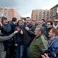Matteo Salvini meets his supporters in Torpignattara