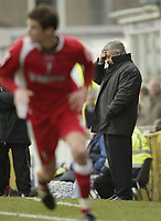 Photo: Aidan Ellis.<br /> Grimsby Town v Swindon Town. Coca Cola League 2. 17/03/2007.<br /> Swindon manager Paul Sturrock holds his head as his side lose to Grimsby
