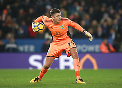 """Burnley's Nick Pope during the Premier League match at the King Power Stadium, Leicester. PRESS ASSOCIATION Photo Picture date: Saturday December 2, 2017. See PA story SOCCER Leicester. Photo credit should read: Mike Egerton/PA Wire. RESTRICTIONS: EDITORIAL USE ONLY No use with unauthorised audio, video, data, fixture lists, club/league logos or """"live"""" services. Online in-match use limited to 75 images, no video emulation. No use in betting, games or single club/league/player publications."""