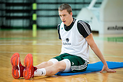 Miha Lapornik during Practice session of Slovenian National basketball team before FIBA Basketball World Cup China 2019 Qualifications against Belarus, on November 20, 2017 in Arena Stozice, Ljubljana, Slovenia. Photo by Vid Ponikvar / Sportida