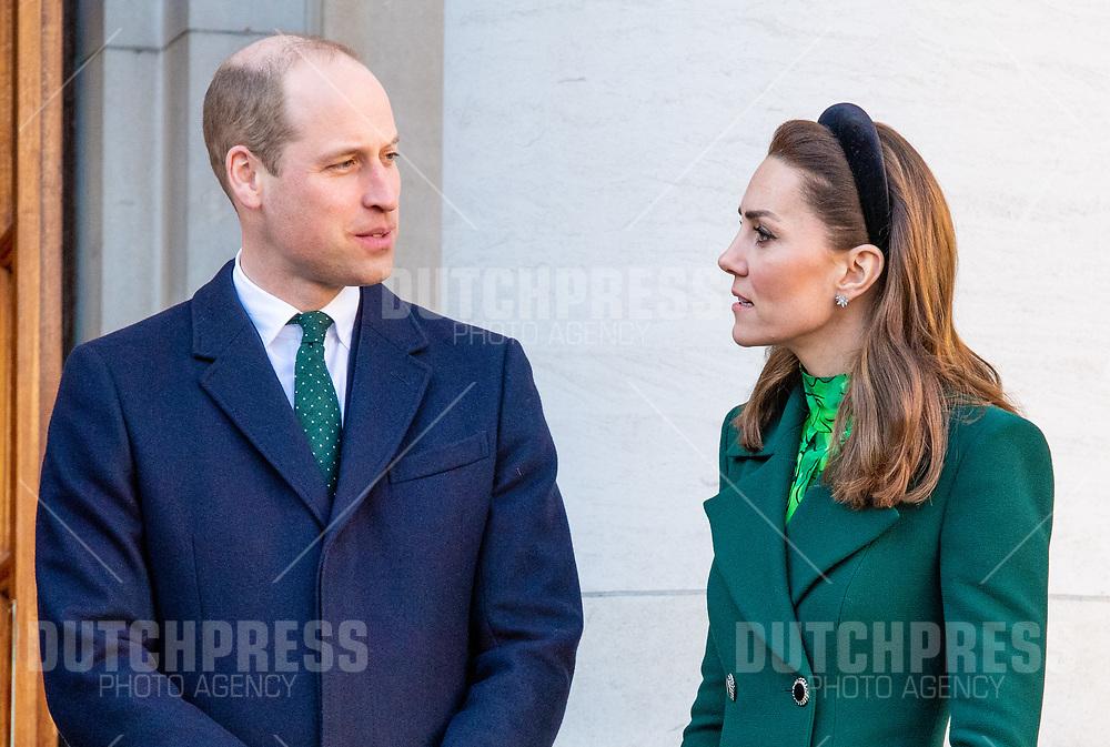 DUBLIN - Prins William en Catherine (Kate Middelton), Hertog en Hertogin van Cambridge bij een ontmoeting met Minister-President Leo Varadkar en zijn partner bij Government Buildings in Dublin.