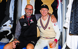 Chris Rogers of Somerset , who retired today poses for photo with Matt Maynard.  - Mandatory by-line: Alex Davidson/JMP - 22/09/2016 - CRICKET - Cooper Associates County Ground - Taunton, United Kingdom - Somerset v Nottinghamshire - Specsavers County Championship Division One
