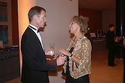 Sir Nicholas Serota and Lady Hollick. Dinner at the opneing of Degas, Sickert and Toulouse-Lautrec. Tate Britain. Pimlico, London.  London. 3 October 2005. . ONE TIME USE ONLY - DO NOT ARCHIVE © Copyright Photograph by Dafydd Jones 66 Stockwell Park Rd. London SW9 0DA Tel 020 7733 0108 www.dafjones.com