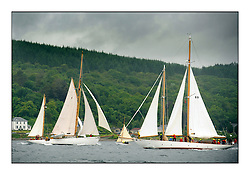 Day four of the Fife Regatta, race from Tighnabruaich to Portavadie<br /> <br /> Kentra, E & D Klaus, GBR, Gaff Ketch, Wm Fife 3rd, 1923 and Astor, Richard Straman, USA, Schooner, Wm Fife 3rd, 1923<br /> <br /> * The William Fife designed Yachts return to the birthplace of these historic yachts, the Scotland's pre-eminent yacht designer and builder for the 4th Fife Regatta on the Clyde 28th June–5th July 2013<br /> <br /> More information is available on the website: www.fiferegatta.com