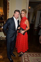 MATTHEW BARZUN and LAURA BAILEY at a party hosed by the US Ambassador to the UK Matthew Barzun, his wife Brooke Barzun and editor of UK Vogue Alexandra Shulman in association with J Crew to celebrate London Fashion Week held at Winfield House, Regent's Park, London on 16th September 2014.