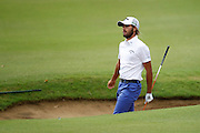 February 16th 2017, Lake Karrinyup Country Club, Perth, Western Australia, Australia; ISPS Handa World Super 6 Perth Golf Tournament Day 1; Leading amature Curtis Luck (AUS) watches his shot out of the bunker on the 11th fairway during the first round of the ISPS Handa World Super 6 Golf Tournament;