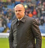Burnely Manager, Sean Dyche makes his way to his seat  during the Sky Bet Championship match between Burnley and Preston North End at Turf Moor, Burnley, England on 5 December 2015. Photo by Mark Pollitt.