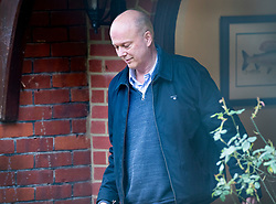 © Licensed to London News Pictures. 02/03/2019. Ashtead, UK. Transport Secretary Chris Grayling leaves his home. <br />  Mr Grayling has been criticised after it was revealed that the government has paid £33 million to Eurotunnel in a legal dispute over post Brexit ferry contracts. Photo credit: Peter Macdiarmid/LNP