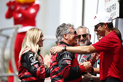 March 11, 2018 - St. Petersburg, Florida, United States of America - March 11, 2018 - St. Petersburg, Florida, USA: Mario Andretti gets introduced to the crowd for the Firestone Grand Prix of St. Petersburg at Streets of St. Petersburg in St. Petersburg, Florida. (Credit Image: © Justin R. Noe Asp Inc/ASP via ZUMA Wire)