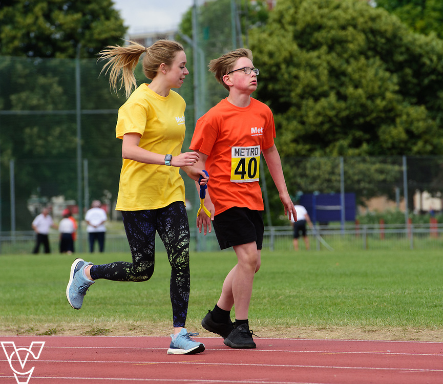 Event: 400 meters<br /> Competitors, from left: Ilya Vencjuns<br /> <br /> Metro Blind Sport's 42nd Athletics Open, held at Mile End Stadium, Tower Hamlets, London.<br /> <br /> Picture: Chris Vaughan Photography for Metro Blind Sports<br /> Date: June 16, 2018