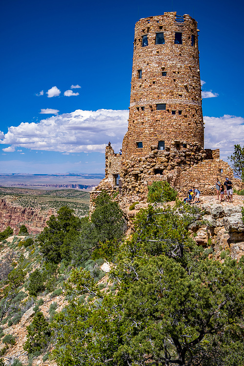 View of the Watchtower at Deser View in Grand Canyon National Park