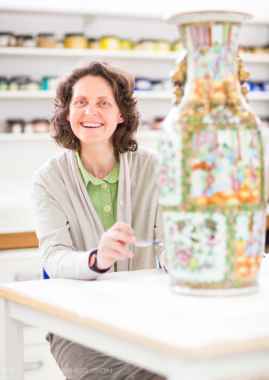 West Dean College Ceramics tutor Lorna Calcutt. <br /> Picture date: Wednesday May 6, 2015.<br /> Photograph by Christopher Ison ©<br /> 07544044177<br /> chris@christopherison.com<br /> www.christopherison.com