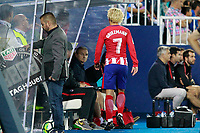 Atletico de Madrid's Antoine Griezmann after change during La Liga match. September 30,2017. (ALTERPHOTOS/Acero)