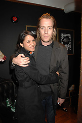 Actor RHYS IFANS and LISA MOORISH at a tea party to launch Pearl Lowe's Spring 2007 fashion collection held at Libery, Great Marlborough Street, London on 20th March 2007.<br />