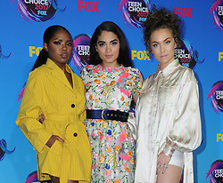 13 August  2017 - Los Angeles, California - Ryan Destiny, Brittany O'Grady, Jude Demorest. Teen Choice Awards 2017 held at the Galen Center in Los Angeles. Photo Credit: Birdie Thompson/AdMedia *** Please Use Credit from Credit Field ***