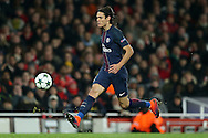 Edinson Cavani of Paris Saint-Germain in action. UEFA Champions league group A match, Arsenal v Paris Saint Germain at the Emirates Stadium in London on Wednesday 23rd November 2016.<br /> pic by John Patrick Fletcher, Andrew Orchard sports photography.