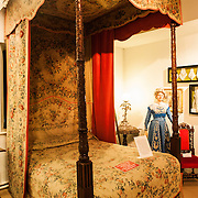 The bed coverings of this bed were reputedly made for French Queen Marie Antoinette. Sudeley Castle dates back to the 15th century, although an even older castle might have once been on the same site. It was the final home and burial place of King Henry VIII's last wife, Queen Catherine Parr (c. 1512-1548).