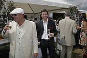 Ray Winstone and Max Beazley, Veuve Clicquot Gold Cup 2006. Final day. 23 July 2006. ONE TIME USE ONLY - DO NOT ARCHIVE  © Copyright Photograph by Dafydd Jones 66 Stockwell Park Rd. London SW9 0DA Tel 020 7733 0108 www.dafjones.com