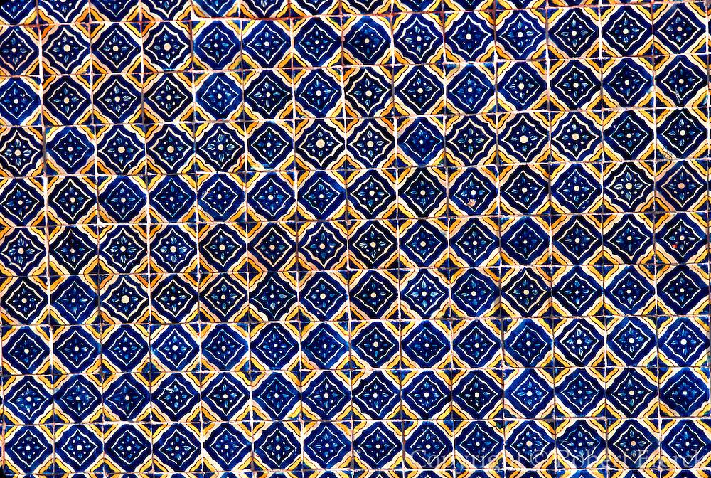 MEXICO, COLONIAL CITIES, GUANAJUATO San Miguel de Allende; traditional, hand  painted, ceramic wall tiles near the El Jardin plaza