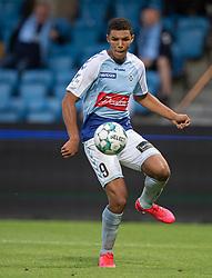 Alexander Bah (SønderjyskE) under finalen i Sydbank Pokalen mellem AaB og SønderjyskE den 1. juli 2020 i Blue Water Arena, Esbjerg (Foto Claus Birch).
