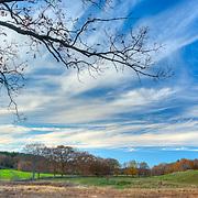 Hayfields in November. Appleton Farms & Grass Rides, Ipswich, MA
