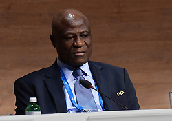 26.02.2016, Zürcher Hallenstadion, Zuerich, SUI, FIFA Kongress und Präsidentenwahl, im Bild Die FIFA Exekutivkomitee Mitglied Constant Omari (CGO) // during the extraordinary FIFA congress. Delegates of the soccer body FIFA meet to elect a new president at the Zürcher Hallenstadion in Zuerich, Switzerland on 2016/02/26. EXPA Pictures © 2016, PhotoCredit: EXPA/ Freshfocus/ Steffen Schmidt<br /> <br /> *****ATTENTION - for AUT, SLO, CRO, SRB, BIH, MAZ only*****