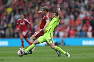 Brighton striker, Tomer Hemed (10) during the Sky Bet Championship match between Middlesbrough and Brighton and Hove Albion at the Riverside Stadium, Middlesbrough, England on 7 May 2016.