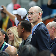 Basketball - Olympics: Day 16  NBA Commissioner Adam Silver watching the gold medal celebrations during the USA Vs Serbia Men's Basketball Gold Medal game at Carioca Arena1on August 21, 2016 in Rio de Janeiro, Brazil. (Photo by Tim Clayton/Corbis via Getty Images)