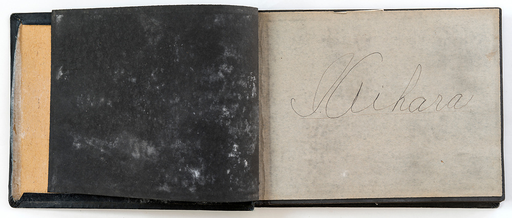 first page with name of a Japanese photo album