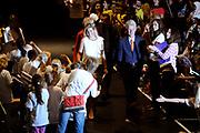 Het eindconcert van Kinderen Maken Muziek in de Heineken Music Hall. De ruim 3000 kinderen die de afgelopen tijd overal in het land muziekgroepen vormden, traden gezamenlijk op. ///// The final concert of Children Making Music in the Heineken Music Hall. The more than 3000 children who recently formed bands across the country, acted together.<br /> <br /> Op de foto / On the Photo:  Prinses Maxima