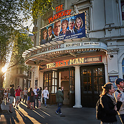 """A theatre showing """"The Best Man"""" at the Strand in London, United Kingdom."""