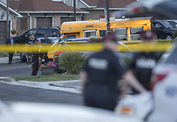 June 14, 2018 - Toronto, ON, Canada - TORONTO, ON - MAY 31: Two children were rushed to hospital after being struck by bullets in a shooting at a playground on Alton Towers Circle in Scarborough. Police continue their investigation. Toronto Star/Rick Madonik Rick Madonik/Toronto Star (Credit Image: © Rick Madonik/The Toronto Star via ZUMA Wire)