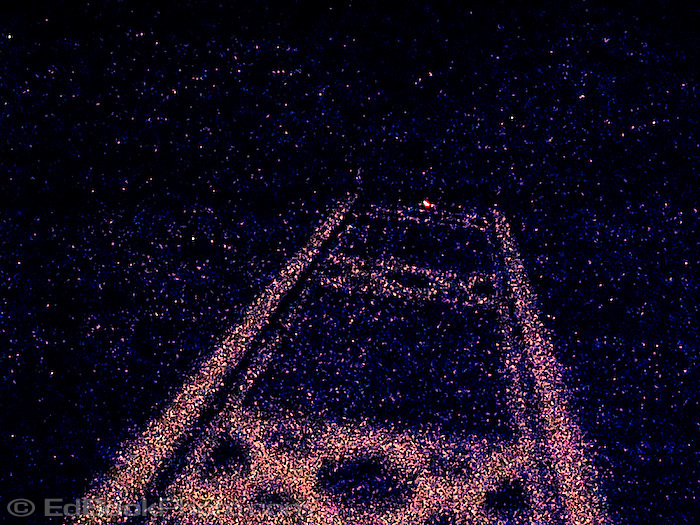 Tacoma Narrows Bridge tower at night abstract