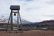 A bell by Haugen, Longyearbyen, Svalbard. The northernmost settlement with more than 1,000 people on earth, and is quite well-serviced town, with an airport and university and hospital.