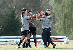 November 20, 2018 - Rome, Italy - Rugby All Blacks training - Vista Norther Tour.Team warm up at University Sport Center in Rome, Italy on November 20, 2018. (Credit Image: © Matteo Ciambelli/NurPhoto via ZUMA Press)