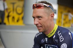 01.07.2012, Luettich, BEL, Tour de France, 1. Etappe Luettich-Seraing, im Bild SORENSEN Nicki (Team Saxo Bank - Tinkoff Bank) // during the Tour de France, Stage 1, Liege-Seraing, Belgium on 2012/07/01. EXPA Pictures © 2012, PhotoCredit: EXPA/ Eibner/ Ben Majerus..***** ATTENTION - OUT OF GER *****
