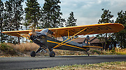 Piper J3P Cub taxiing at Hood River Fly In at Western Antique Aeroplane and Automobile Museum