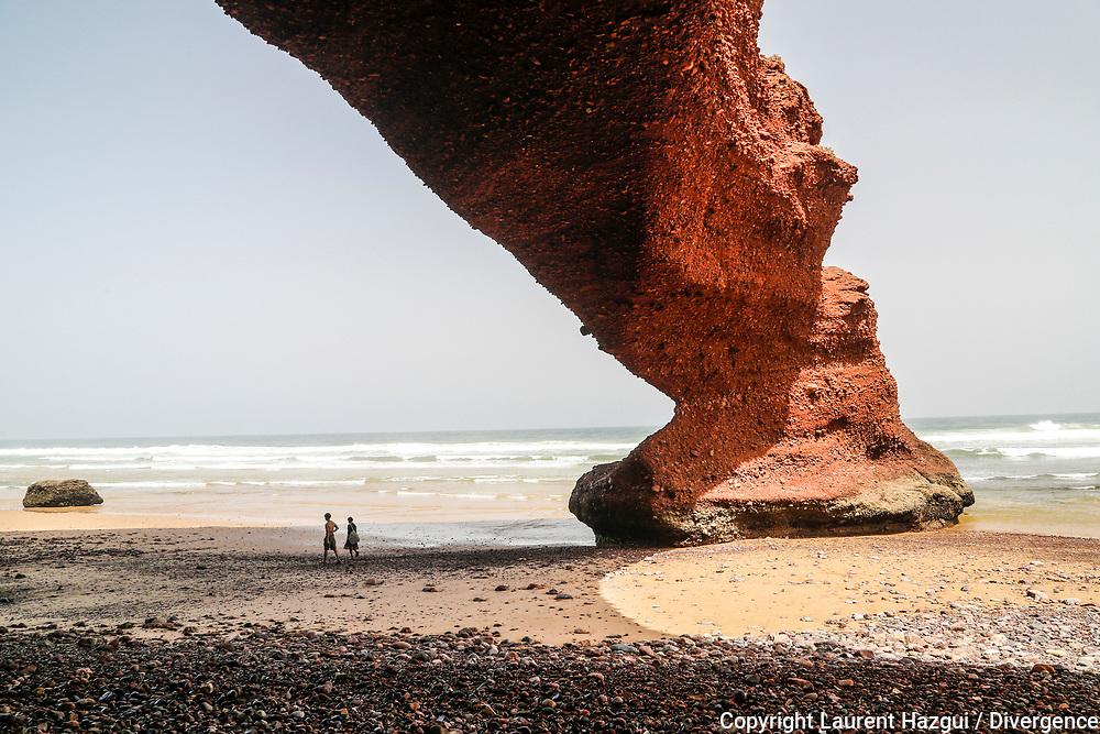 02062014. Maroc/Marocco. Plage de Legzira. LEGZIRA BEACH.