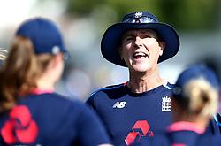 England Women head coach Mark Robinson gives a team talk to his players - Mandatory by-line: Robbie Stephenson/JMP - 09/07/2017 - CRICKET - Bristol County Ground - Bristol, United Kingdom - England v Australia - ICC Women's World Cup match 19