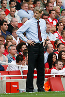 Photo: Steve Bond.<br />Arsenal v Derby County. The FA Barclays Premiership. 22/09/2007. Arsene Wenger reflects