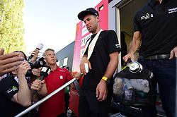 July 4, 2017 - Mondorf Les Bains / Vittel, Luxembourg / France - VITTEL, FRANCE - JULY 4 : CAVENDISH Mark (GBR) Rider of Team Dimension Data pictured after visiting the Tour de France doctor after his crash during stage 4 of the 104th edition of the 2017 Tour de France cycling race, a stage of 207.5 kms between Mondorf-Les-Bains and Vittel on July 04, 2017 in Vittel, France, 4/07/2017 (Credit Image: © Panoramic via ZUMA Press)