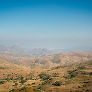 View of Aravalli mountain range around Udaipur