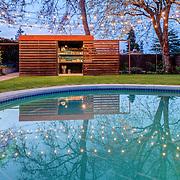 Garden shed in Seward Park area of Seattle, WA USA