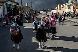 November 23, 2016 - Qayyara, Ninewa Province, IRAQ - Despite living under extraordinary circumstance life is beginning to return to normal in the town and children have begun returning to school. (Credit Image: © Gabriel Romero via ZUMA Wire)