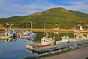 Fishing boats on Cape Breton<br /> Pleasant Bay<br /> Nova Scotia<br /> Canada