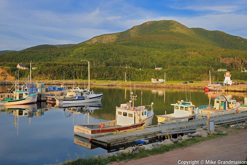 Fishing boats on Cape Breton<br /> Pleasant Bay<br /> Nova Scotia<br /> Canada