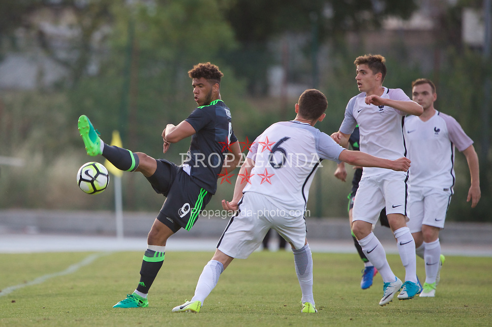 AUBAGNE, FRANCE - Tuesday, May 30, 2017: Wales' Tyler Roberts during the Toulon Tournament Group B match between Wales U20 and France U20 at the Stade de Lattre-de-Tassigny. (Pic by David Rawcliffe/Propaganda)