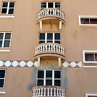 USA, Puerto Rico, San Juan. Facades of Old San Juan architecture of Puerto Rico.