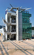 Chungju, South Korea. General Views Finish Tower Area. 2013 World Rowing Champonships, Tangeum Lake, International Regatta Course. 14:56:40  Saturday  24/08/2013 [Mandatory Credit. Peter Spurrier/Intersport Images]